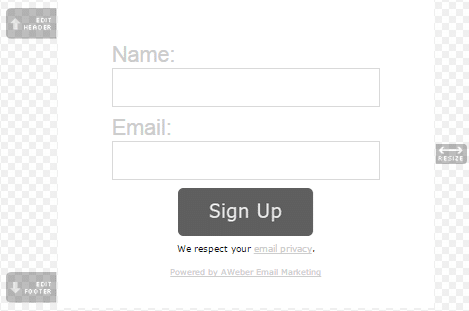 Aweber-custom-sign-up-form