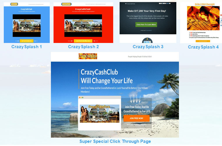 Crazy Cash Club-sales-page
