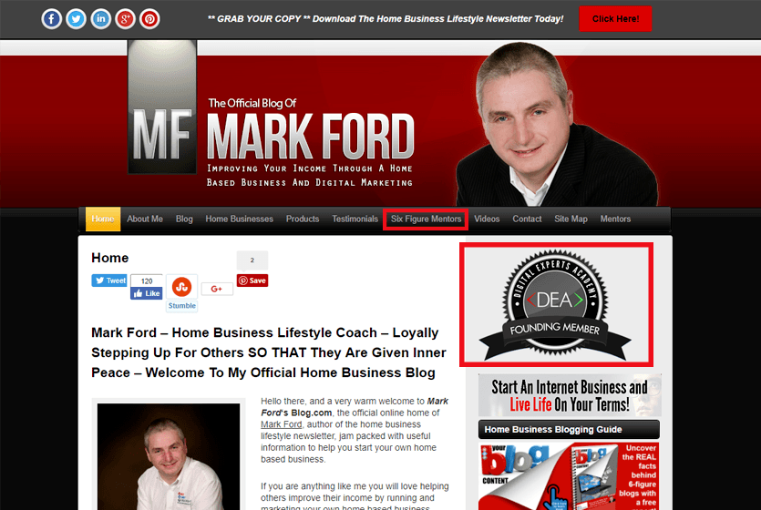 Digital-Experts-Academy-affiliates-Mark-Ford-website