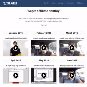 The-Super-Affiliate-Network-Membership-Area-Monthly