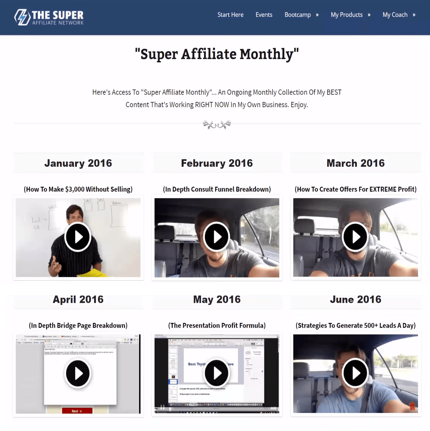 The Super Affiliate Network Review - Membership Area