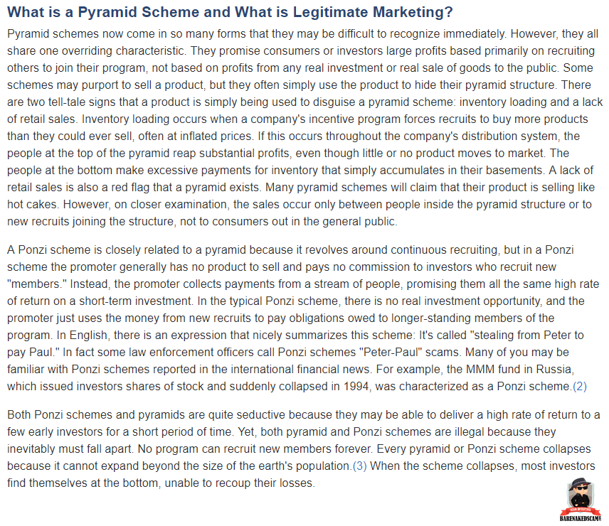 Ace Initiative Scam - What FTC says about Pyramid Schemes