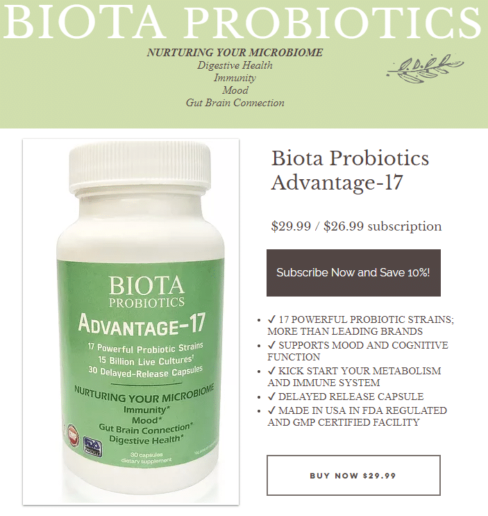 Best Recurring Affiliate Programs - Biota Probiotics