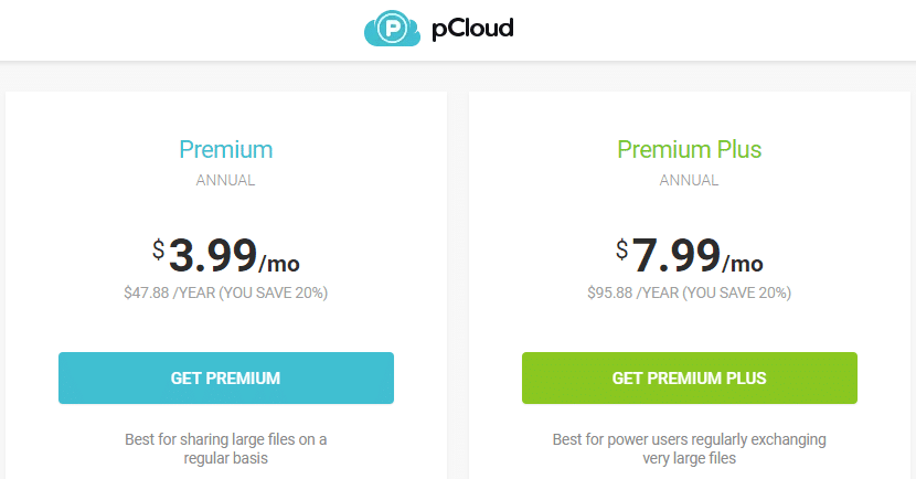 Best Recurring Affiliate Programs - pCloud