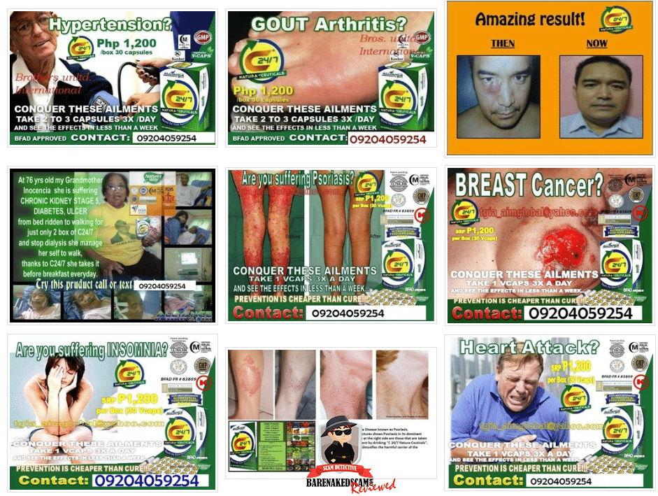 AIM Global Scam - Therapeutic claims